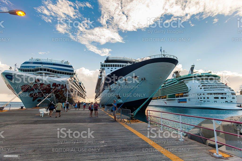Cruise Port-Philipsburg, St. Maarten stock photo