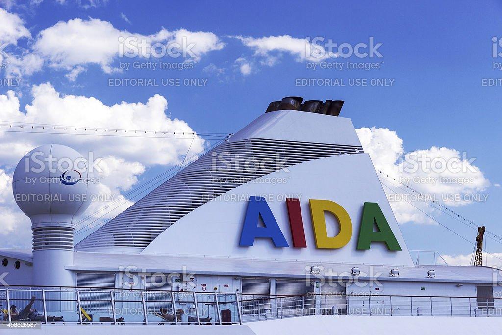 Cruise ship Aida Aura royalty-free stock photo