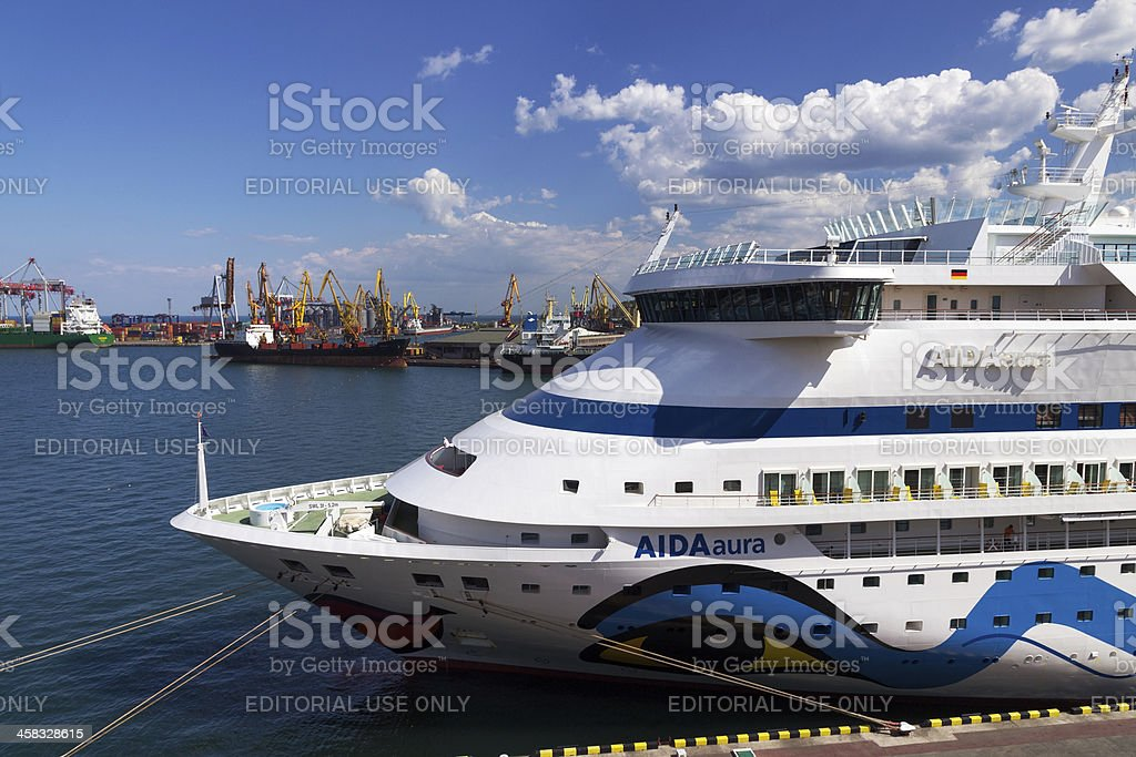 Cruise ship Aida Aura royalty-free stock photo