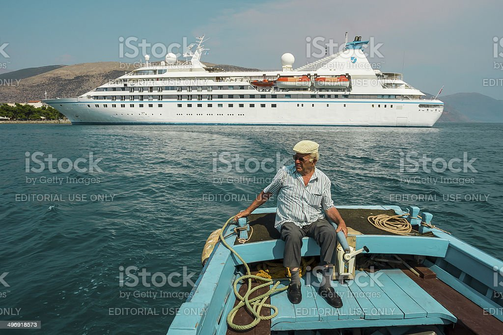 Cruise Ship at Port stock photo