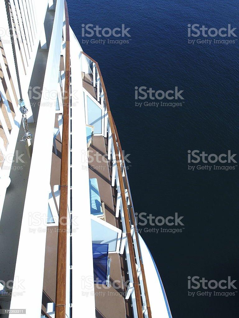 Cruise Ship At Sea stock photo
