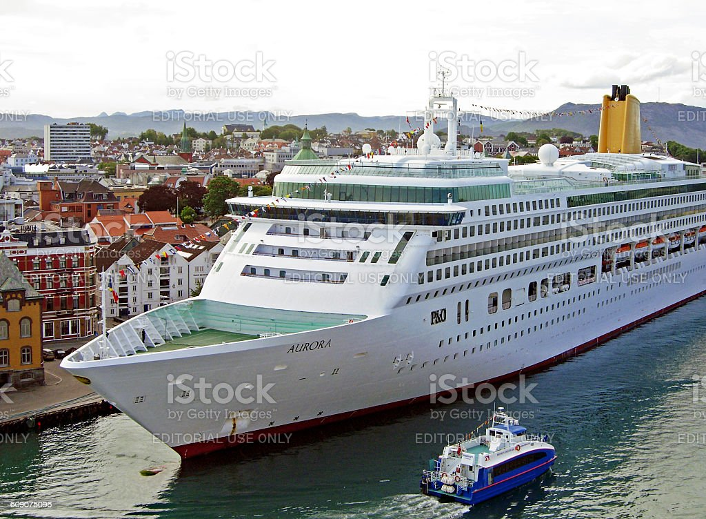 Cruise ship AURORA by P&O Cruises in Stavanger stock photo