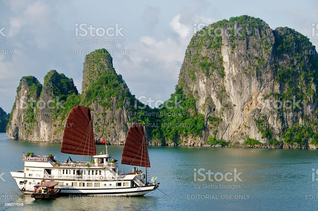cruise ship bai tu long stock photo