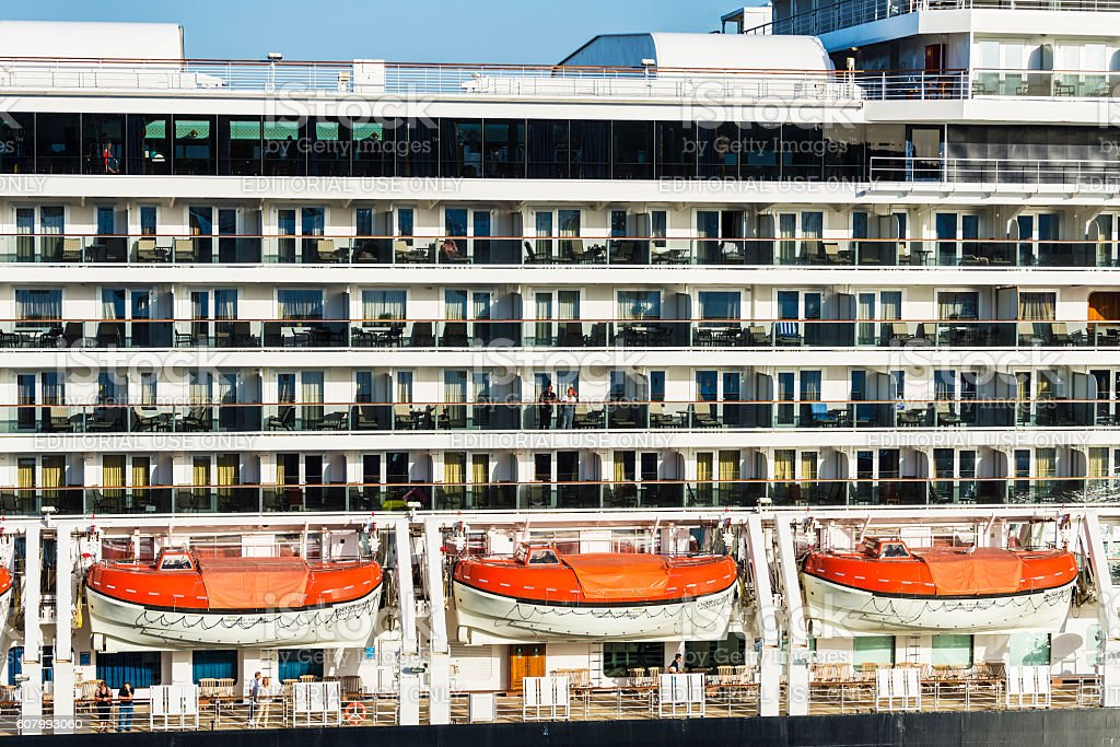 Cruise ship cabins stock photo