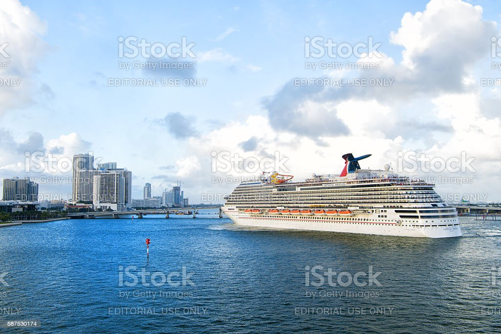 Cruise ship Carnival Breeze stock photo