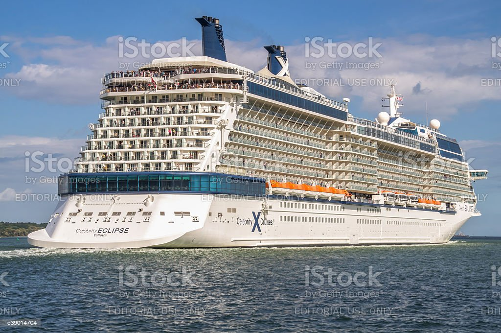 Cruise ship Celebrity Eclipse, Southampton, England, UK stock photo
