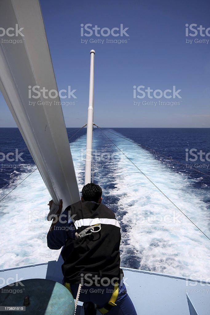Cruise Ship Cleaning royalty-free stock photo