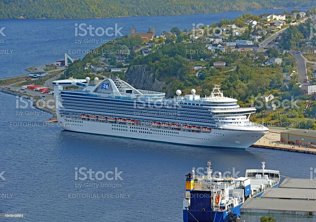 Cruise ship, Corner Brook stock photo