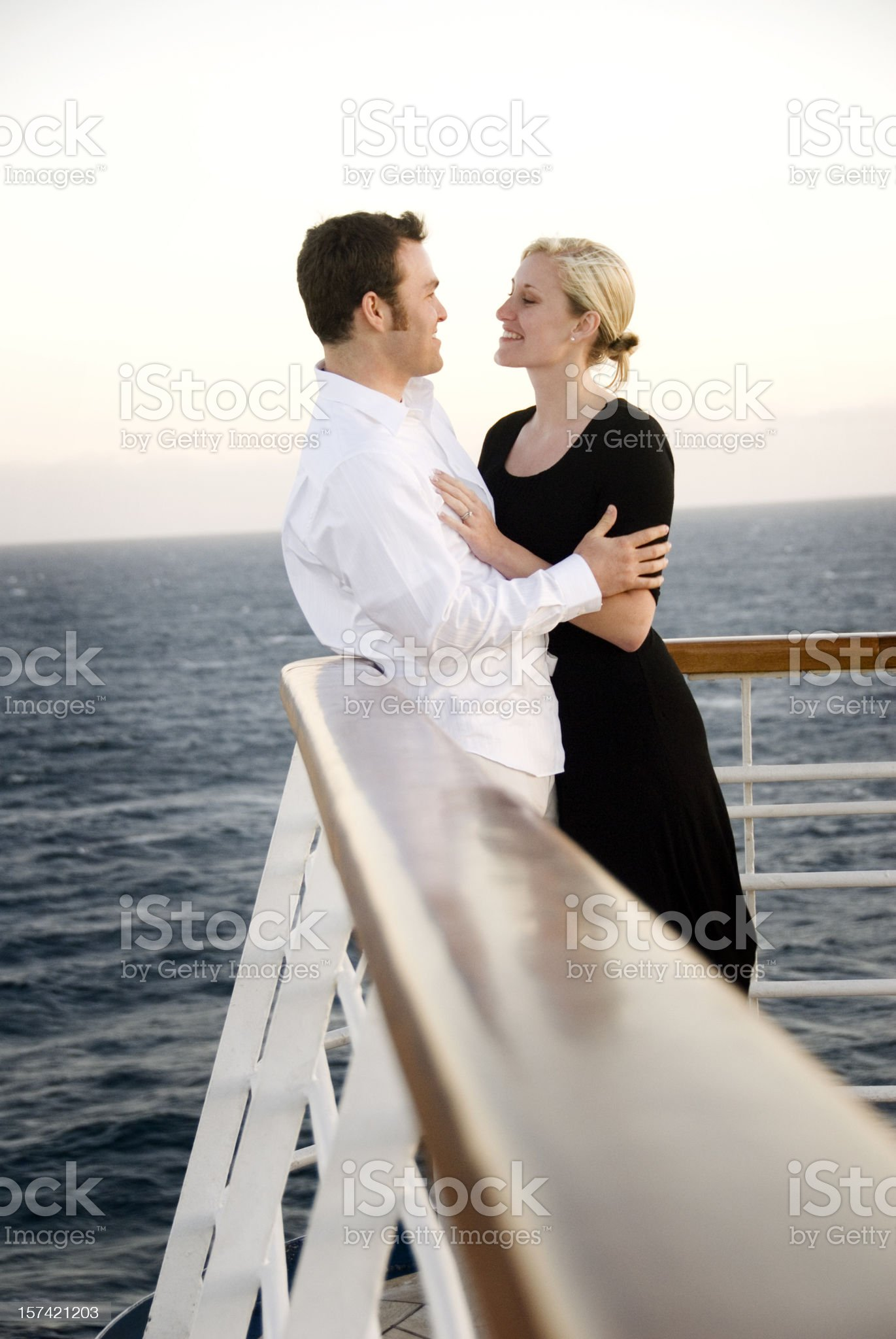 Cruise ship couple royalty-free stock photo