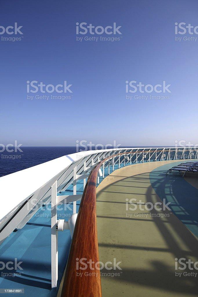 Cruise Ship Deck royalty-free stock photo