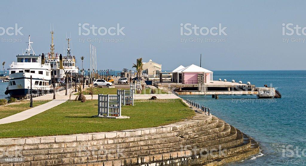 Cruise Ship Dock  at the  Bermuda Dockyard stock photo