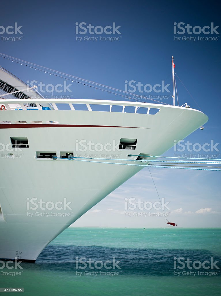 Cruise ship docked in Key West royalty-free stock photo