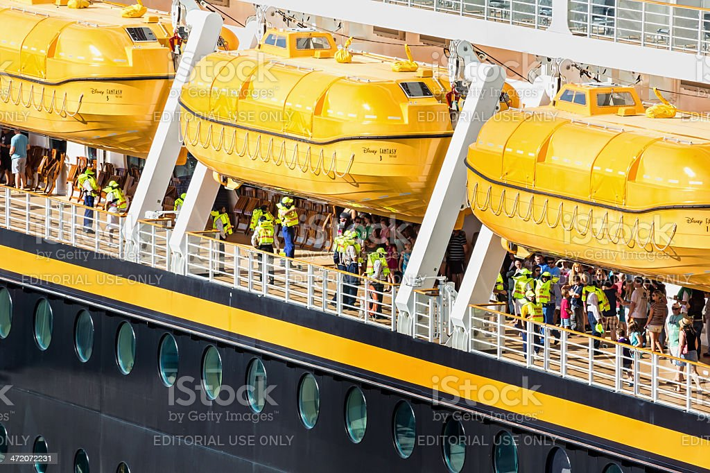 cruise ship docked in Port Canaveral, Florida stock photo