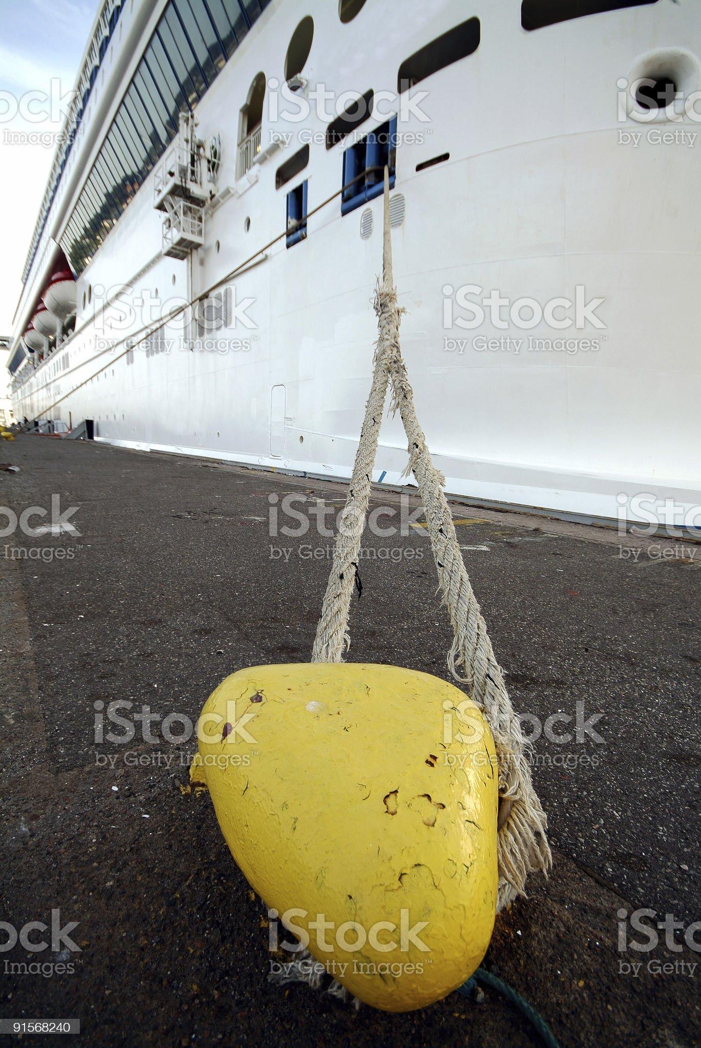 Cruise Ship  docked royalty-free stock photo