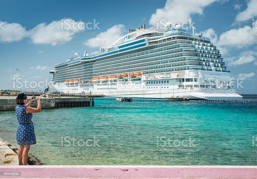 Cruise ship farewell royalty-free stock photo