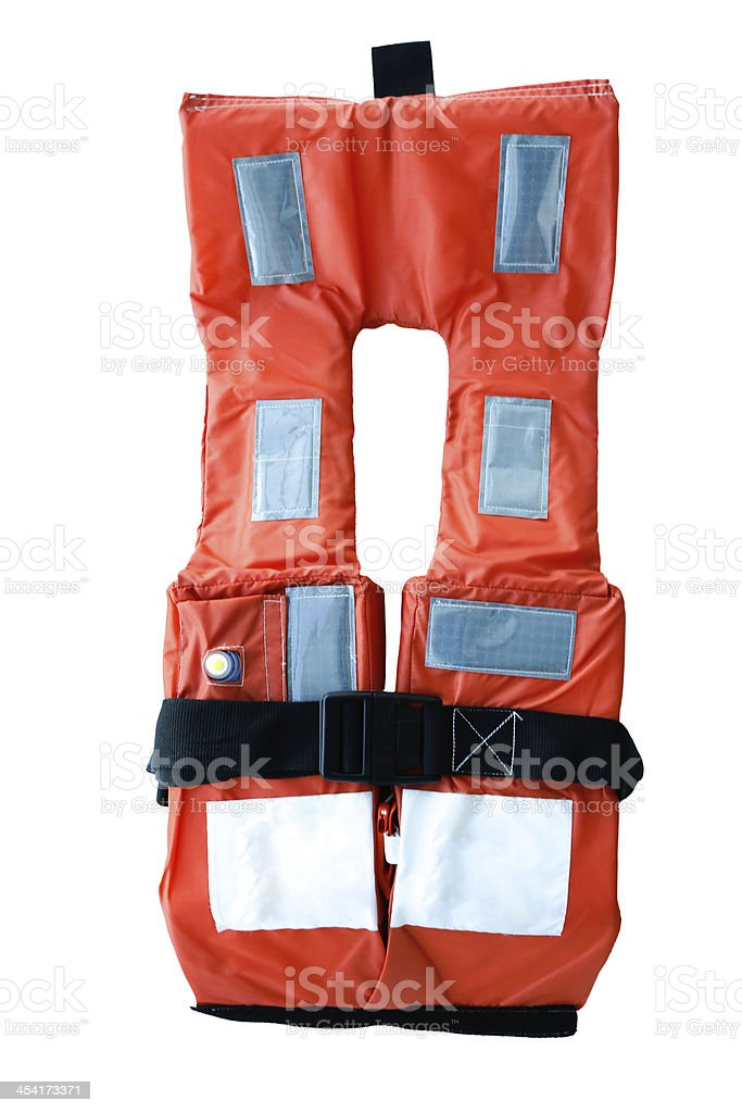 Cruise ship grade Emergency Life Vest royalty-free stock photo