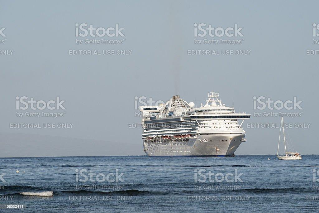 Cruise Ship In Harbor stock photo