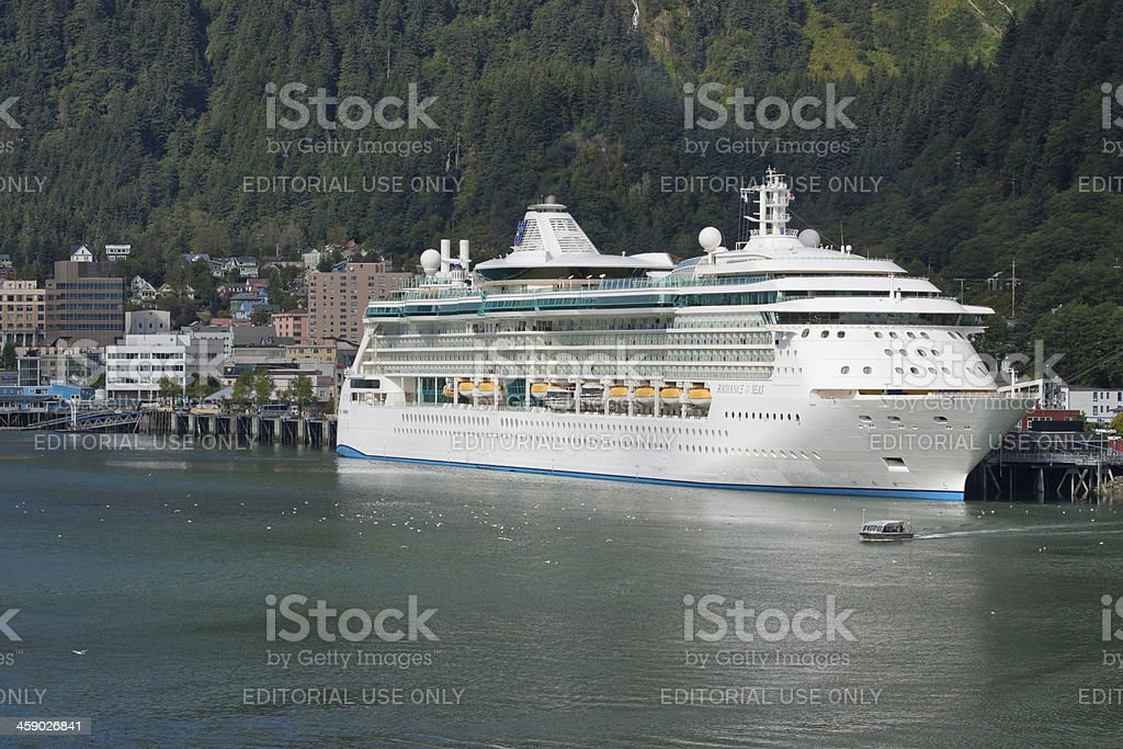 Cruise Ship in Juneau royalty-free stock photo