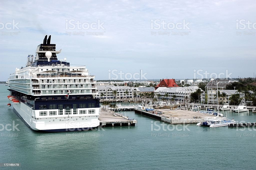 Cruise ship in Key West royalty-free stock photo