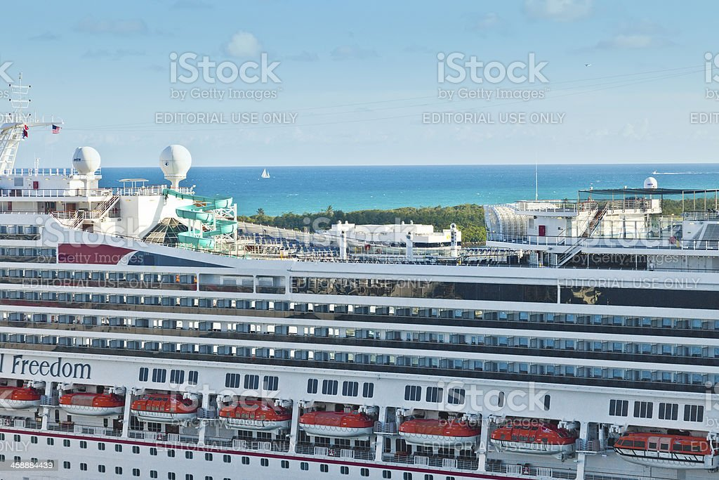 Cruise Ship in Port Everglades stock photo