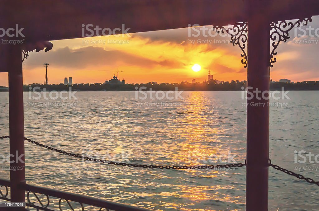 Cruise ship in Songhua River royalty-free stock photo