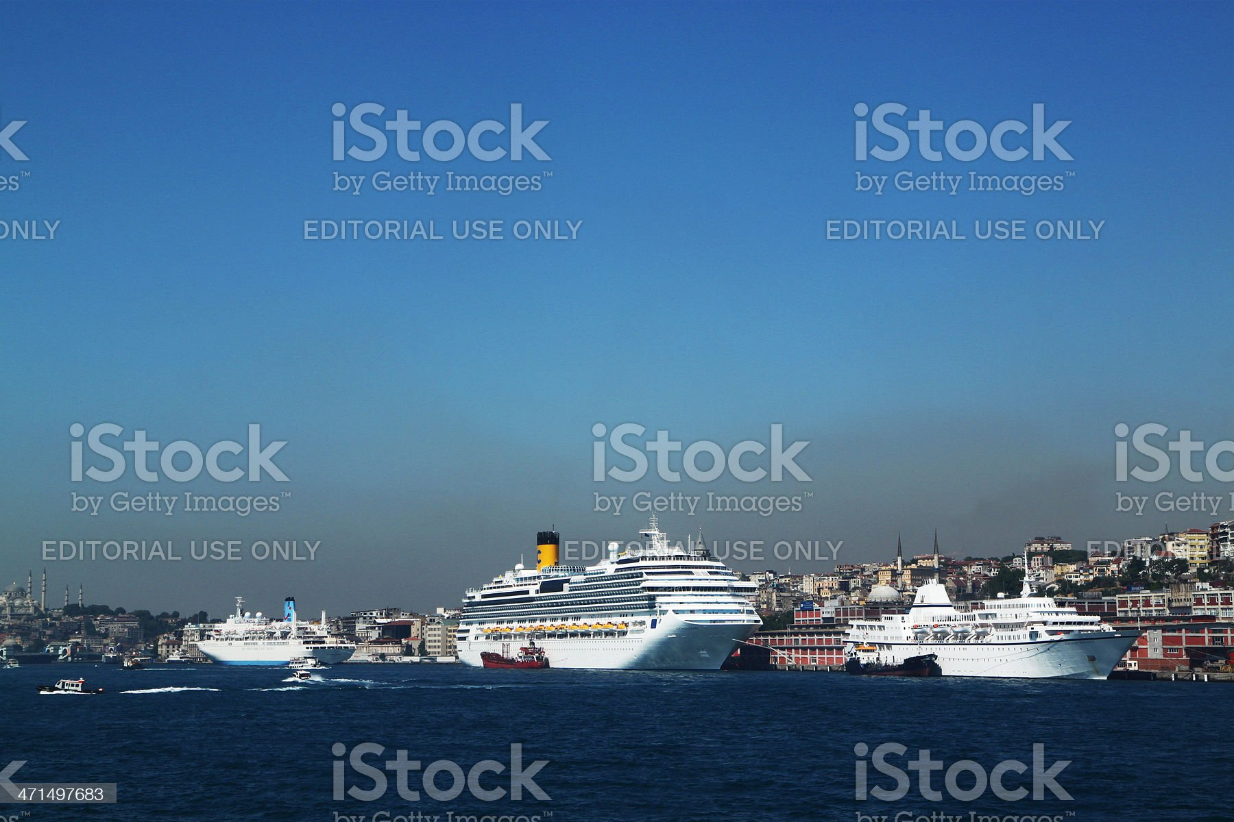 Cruise Ship in the Bosphorus, Istanbul royalty-free stock photo