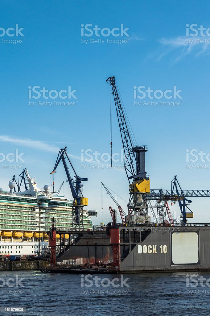 Cruise Ship in the dock royalty-free stock photo