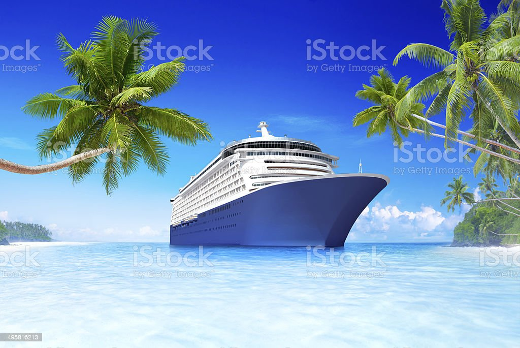 Cruise Ship in the Summer Time stock photo