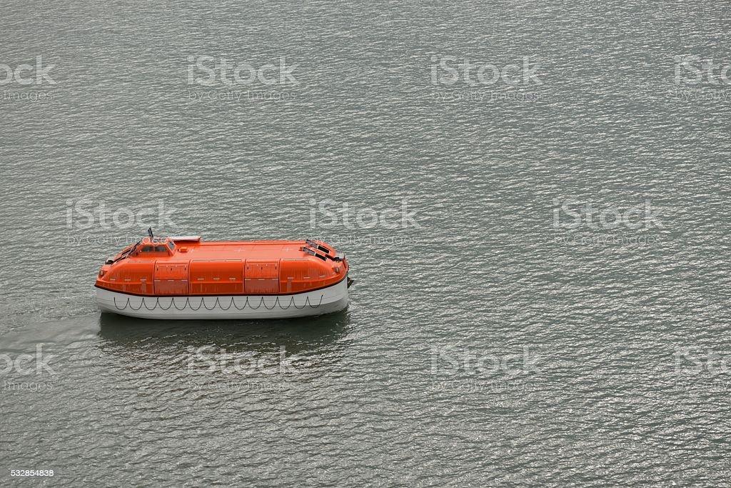 Cruise Ship Lifeboat stock photo