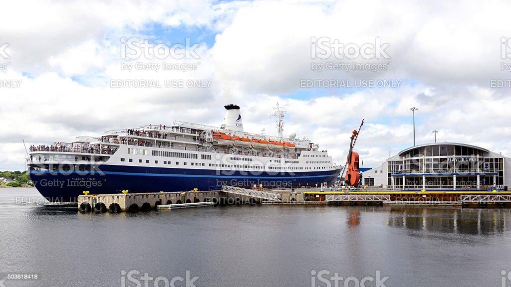 Cruise Ship Marco Polo in Sydney, Nova Scotia stock photo