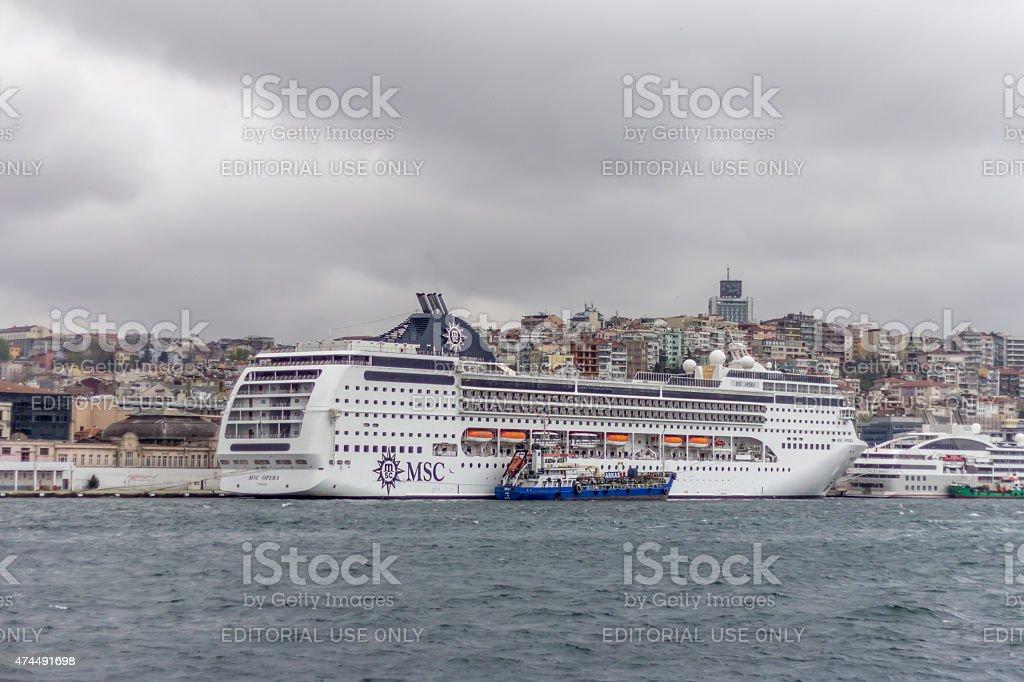 Cruise Ship MSC stock photo