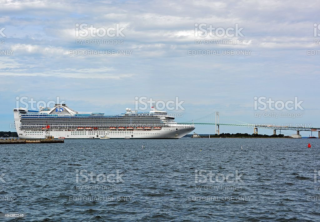 Cruise ship Newport Rhode Island stock photo