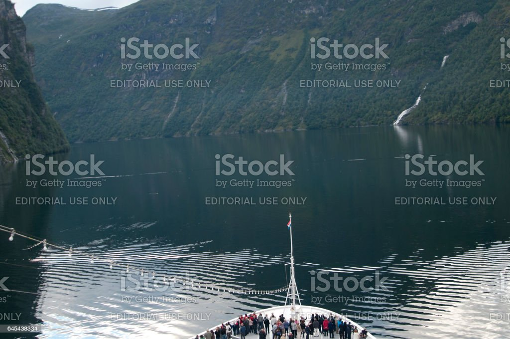 Cruise ship Norway stock photo