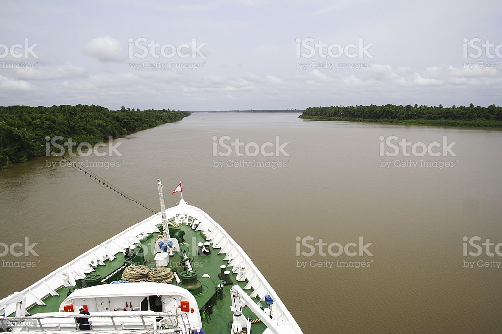 Cruise Ship on a River royalty-free stock photo