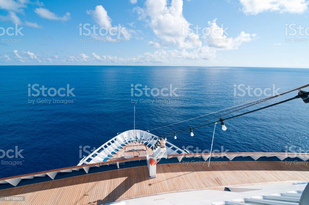 Cruise Ship on the Open Sea - Horizontal royalty-free stock photo