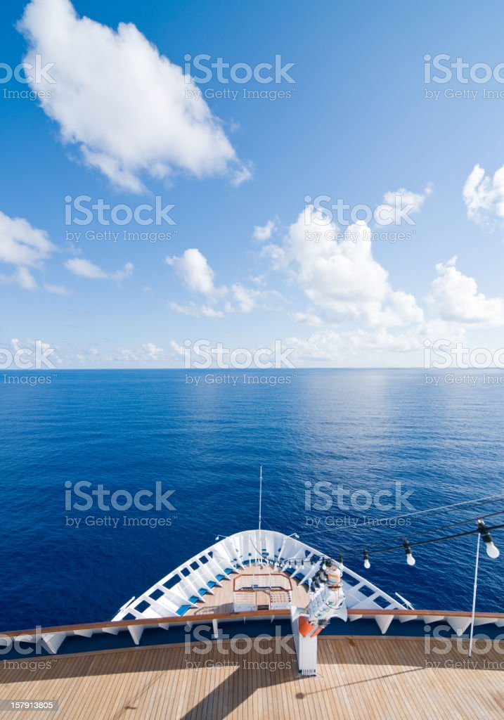 Cruise Ship on the Open Sea royalty-free stock photo