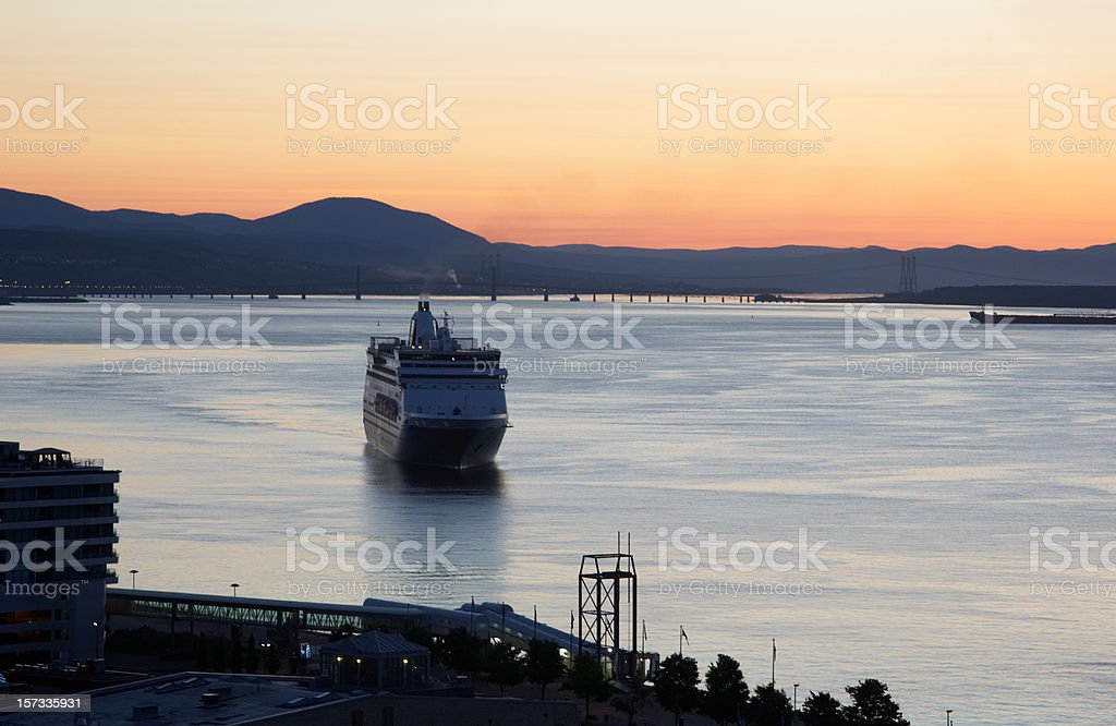 Cruise ship on the St Lawrence royalty-free stock photo