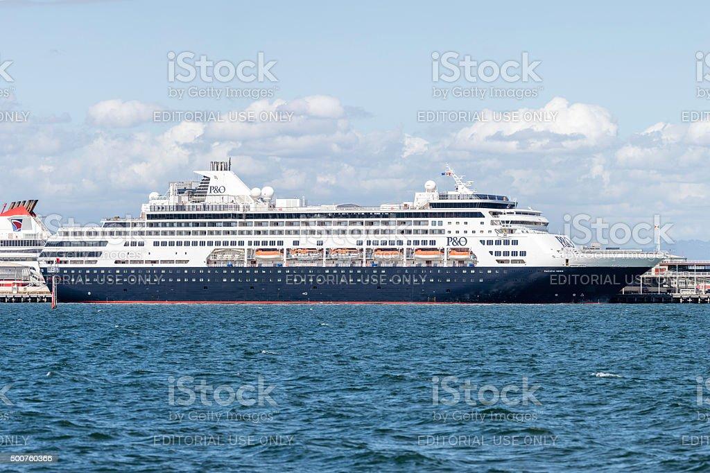 P&O Cruise ship Pacific Eden at Station Pier Melbourne Australia stock photo