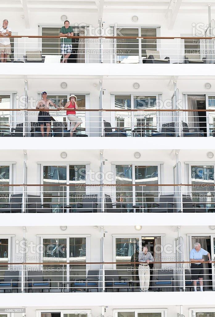 Cruise Ship Passengers royalty-free stock photo