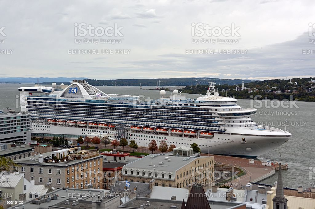 Cruise ship, Quebec City stock photo