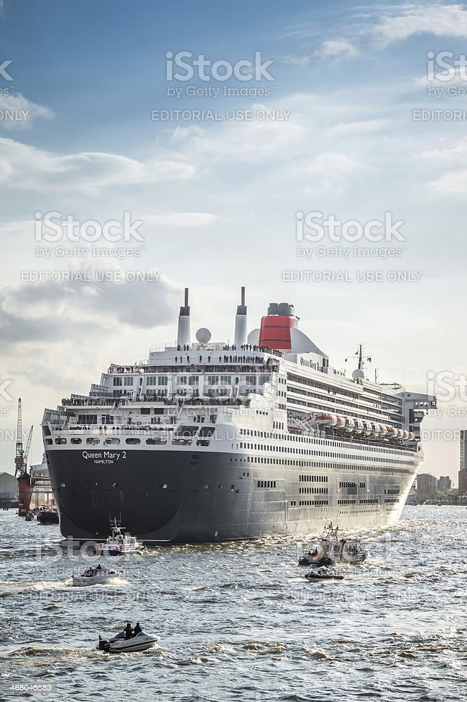 Cruise Ship Queen Mary 2 stock photo