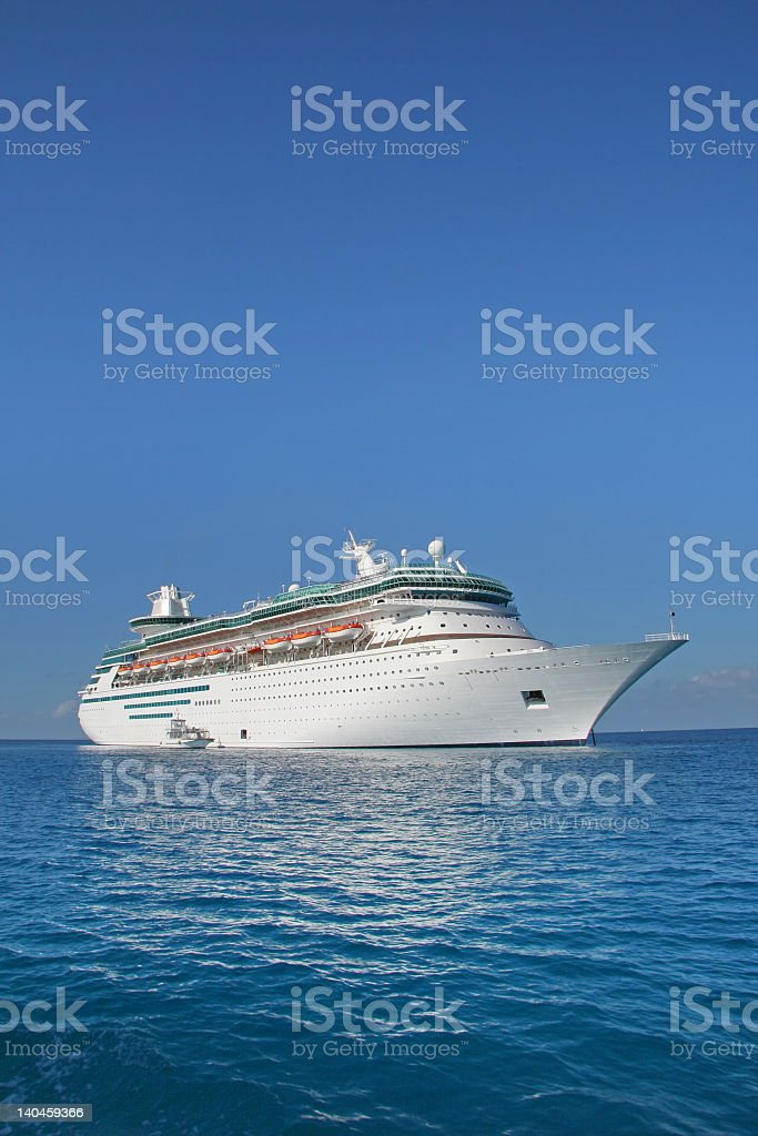 Cruise ship sailing on a clear day royalty-free stock photo
