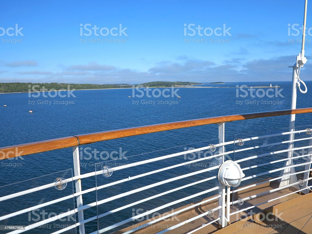 Cruise Ship View stock photo