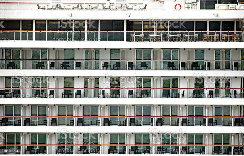 Cruise ship Viking Sky of the shipping company Viking Cruises stock photo