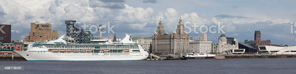 Cruise Ship Vision of The Seas at Liverpool stock photo