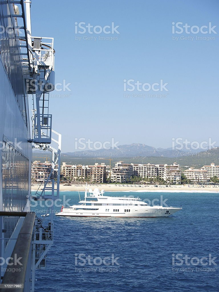 Cruise Ship & Yacht royalty-free stock photo