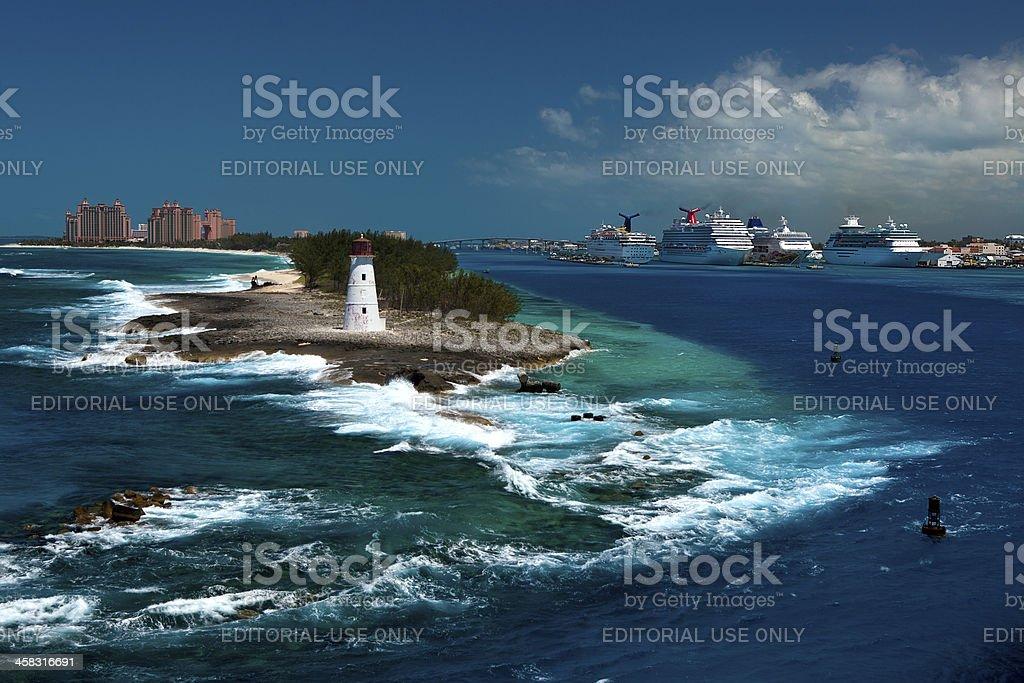 Cruise Ships and Nassau royalty-free stock photo
