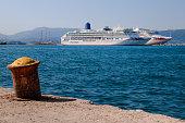 Cruise ships at Corfu Harbour, Corfu, Greece