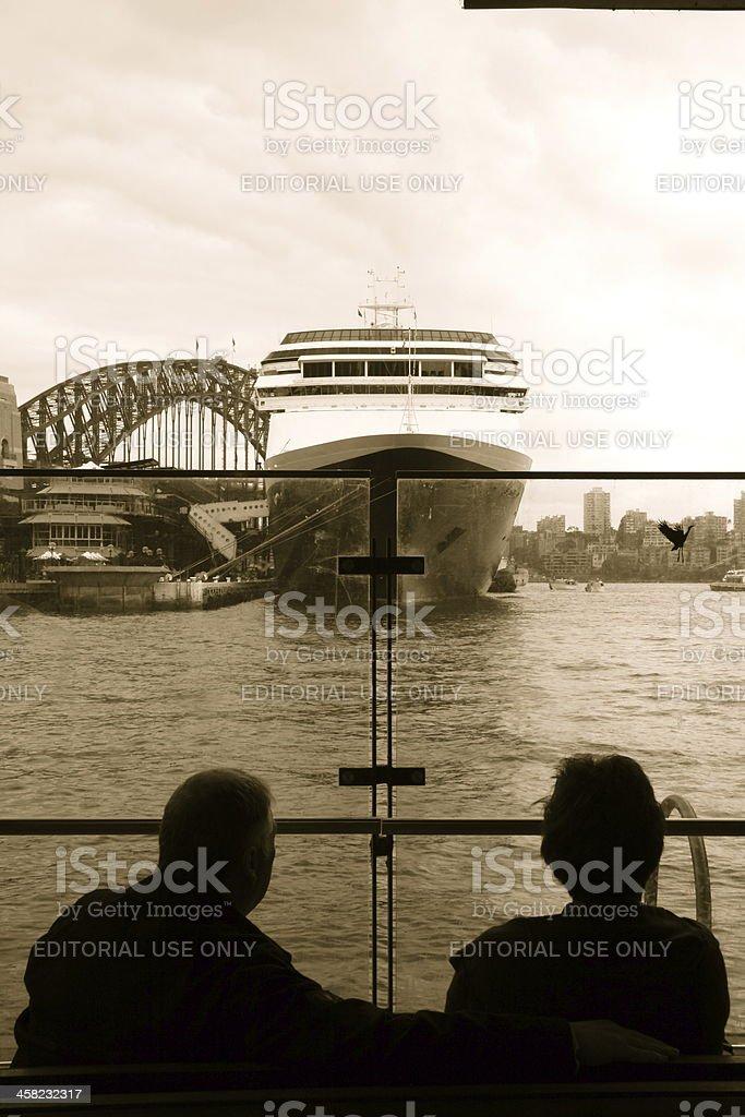 Cruise Ship-Sydney Australia royalty-free stock photo