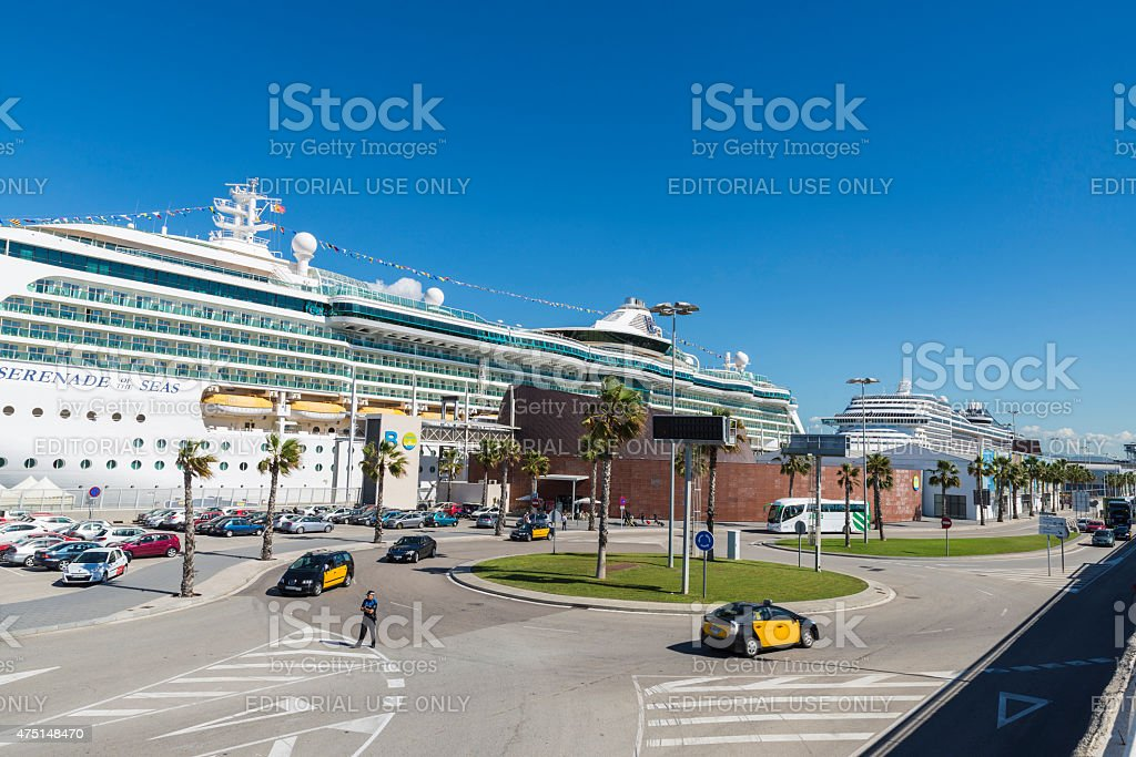 Cruise Terminal in Barcelona stock photo